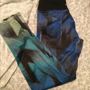 Blue green leggings